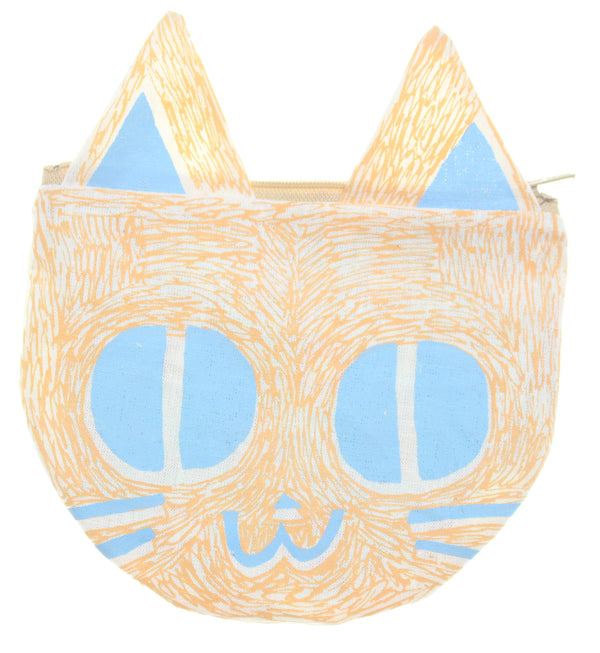 Orange & Blue Kitty Pouch - Hoglumps