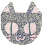 Purple Pink Kitty Pouch