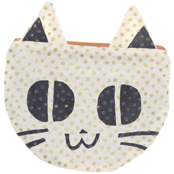 Gold Dots Kitty Pouch - Hoglumps