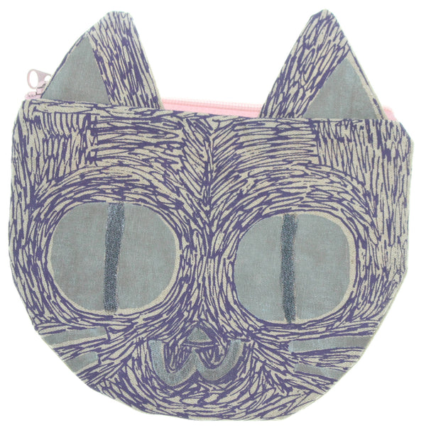 Purple Grey Kitty Pouch - Hoglumps