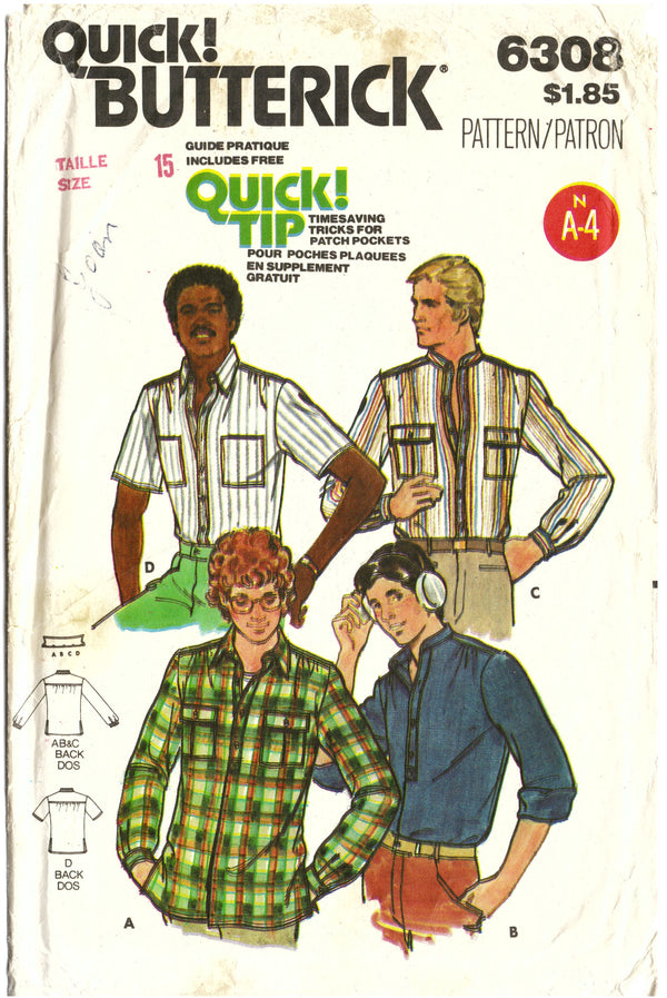 Butterick 6308 Button Up Sewing Pattern - Hoglumps