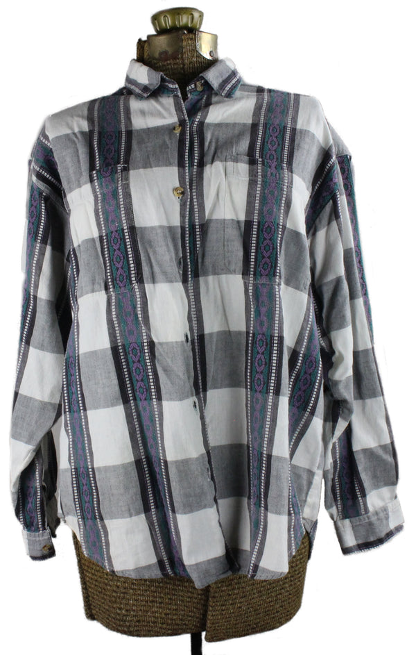 Check Button Up Shirt - Hoglumps