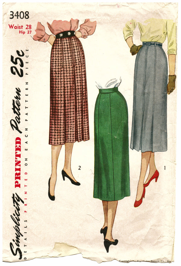 Simplicity 3408 Skirt Sewing Pattern - Hoglumps