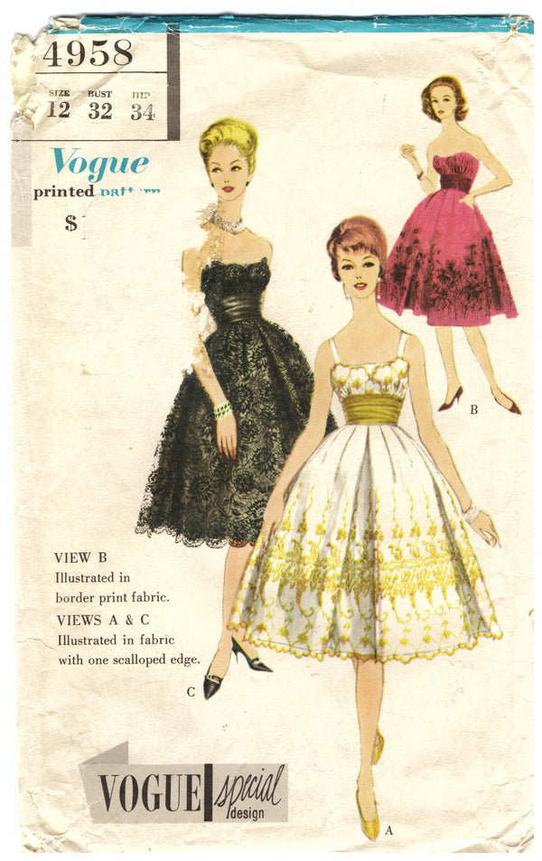 Vogue Special Design 4958 Sewing Pattern - Hoglumps