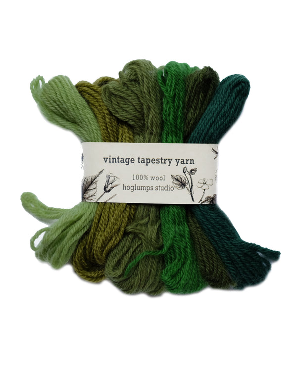 Green - Vintage Tapestry Yarn Pack - Hoglumps