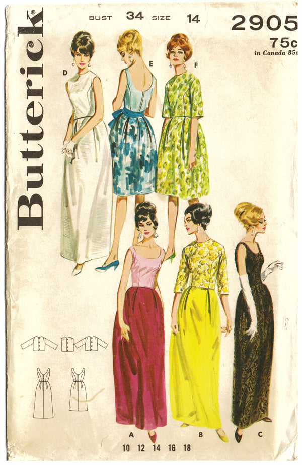 Butterick 2905 Evening Dresses Sewing Pattern - Hoglumps