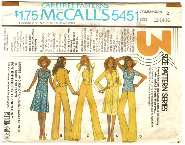 McCalls 5451 Outfit Sewing Pattern - Hoglumps