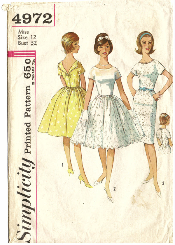Simplicity 4972 Prom Sewing Pattern - Hoglumps