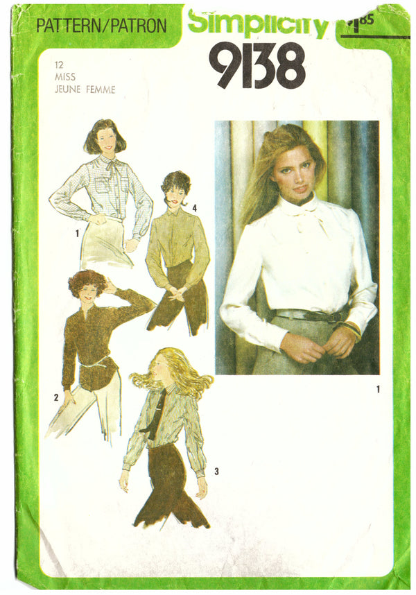 Simplicity 9138 Blouse Sewing Pattern - Hoglumps