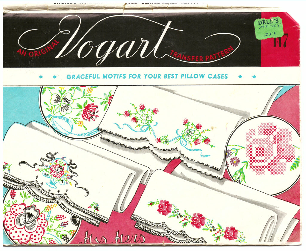 Vogart 147 Embroidery Transfer Pattern - Hoglumps