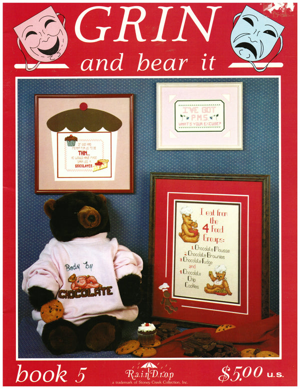 Grin and Bear it Cross Stitch Pattern Book - Hoglumps