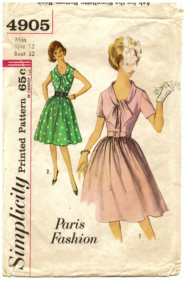 Simplicity 4905 Dress Sewing Pattern - Hoglumps