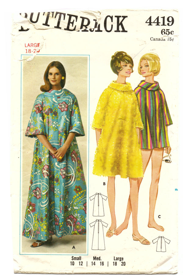 Butterick 4419 Cover-Up Sewing Pattern - Hoglumps
