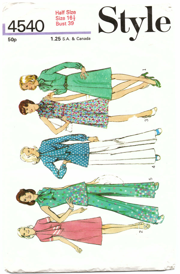 Style 4540 Outfit Sewing Pattern - Hoglumps