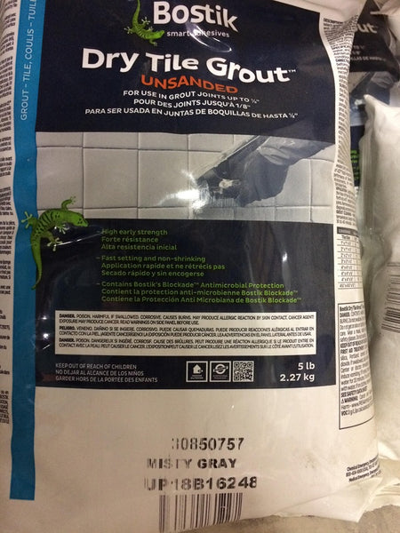 Bostik Unsanded Grout  5 lb. bag - Misty Gray