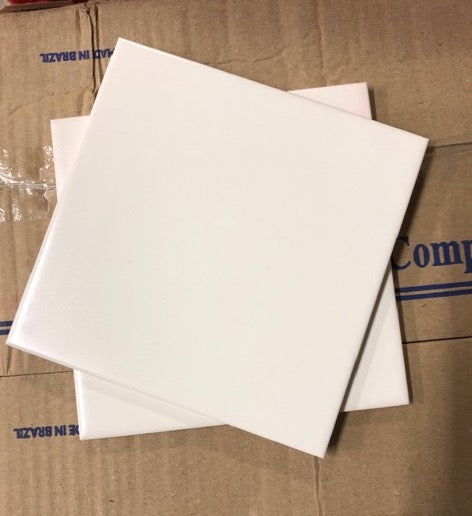 "Ceramic 6"" x 6"" Wall Tile Box - Matte Biscuit"