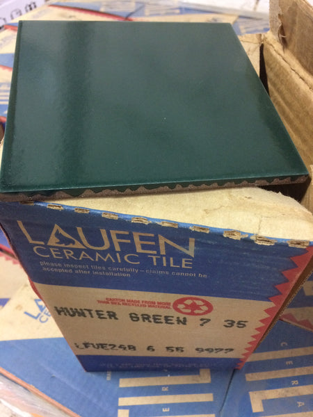 "6"" x 6"" Ceramic Laufen Floor Tile box - Hunter Green"