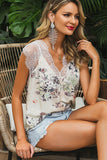 Beautiful Lace trim Floral blouse