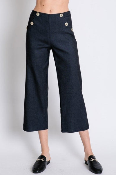 Wide Leg Capri Pant Stretch
