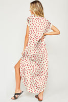 Soft Maxi with Dot design and side slit