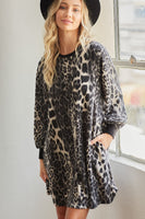 Fall inspired cheetah print cozy dress