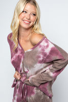 Lauren Tie Dye Button Front 2pc Lounge Set