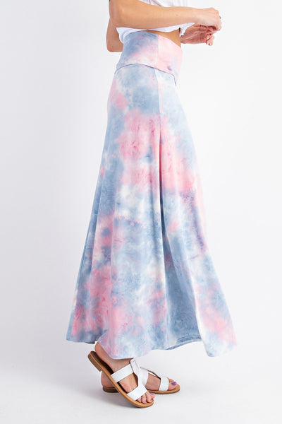 Maxi Length Tie Dye Skirt