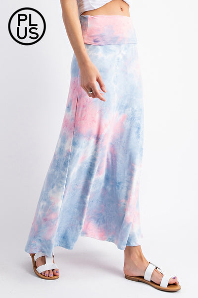 Tie Dye Maxi length skirt