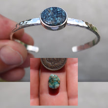 Load image into Gallery viewer, Gemstone Sterling Silver Hammered Cuff
