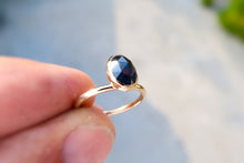 Load image into Gallery viewer, Sapphire 14K solid yellow gold ring. Size 6.5
