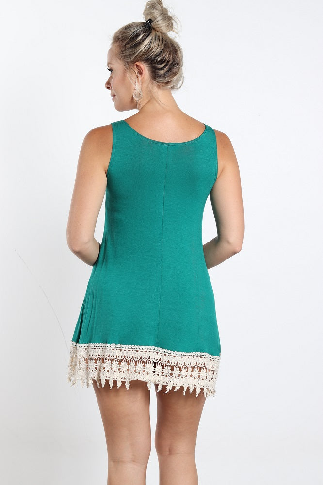 Women's Tank Dress With Lace Details