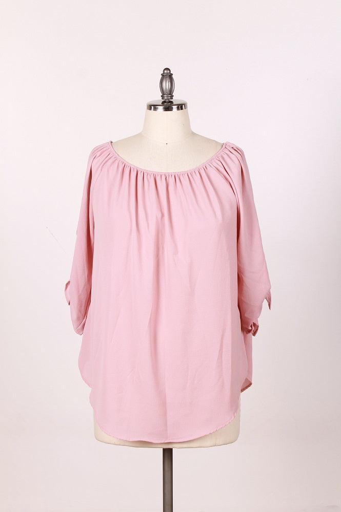 Women's Pink Blouse - Plus Size