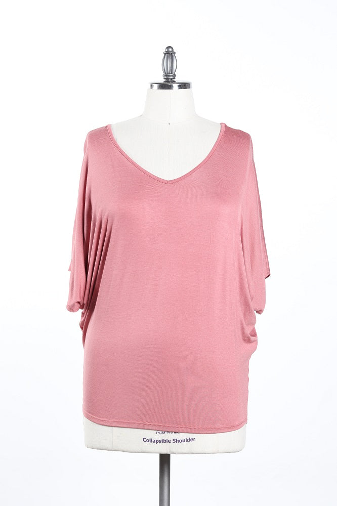 Classic V-Neck Top - Plus Size