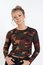 Women's Long Sleeve Camouflage Top