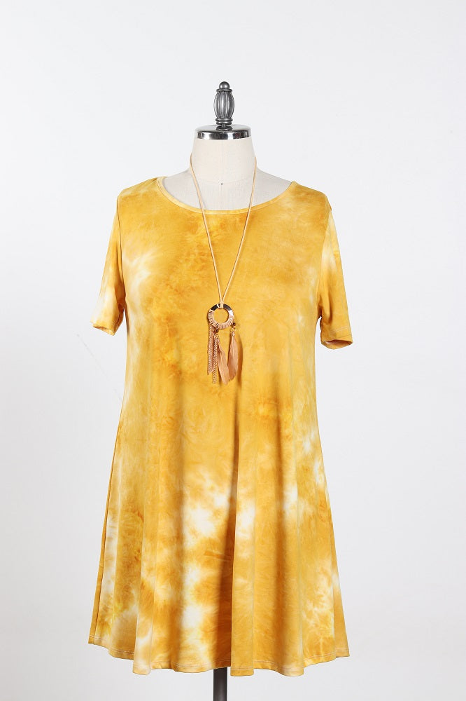 Women's Tie Dye Dress - Plus Size