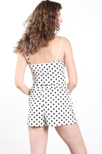 Women's Two Piece Polka Dots Top & Shorts
