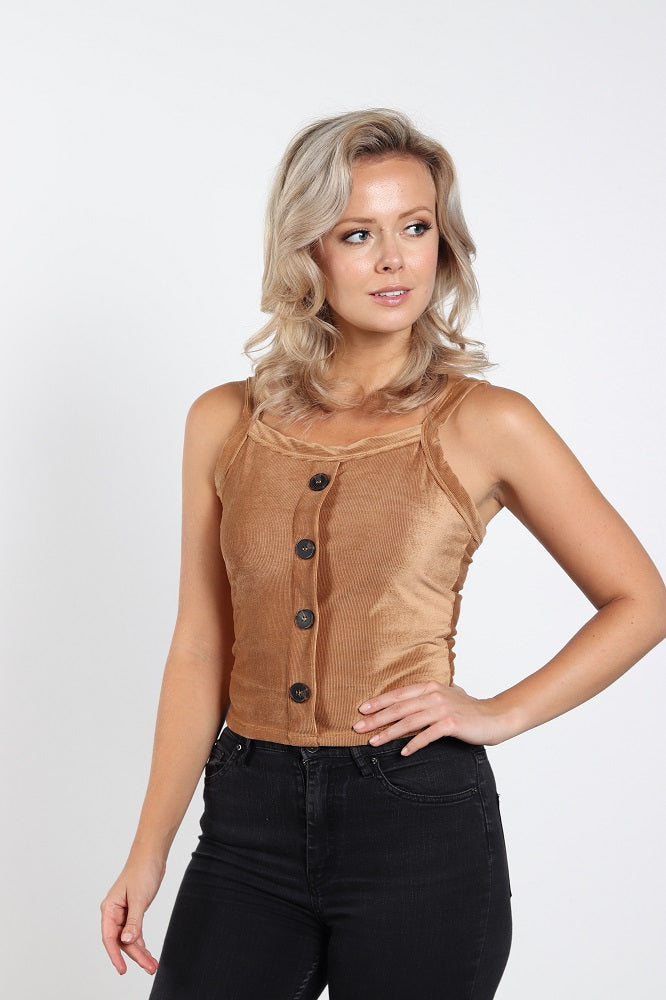 Women's Corduroy Crop Top