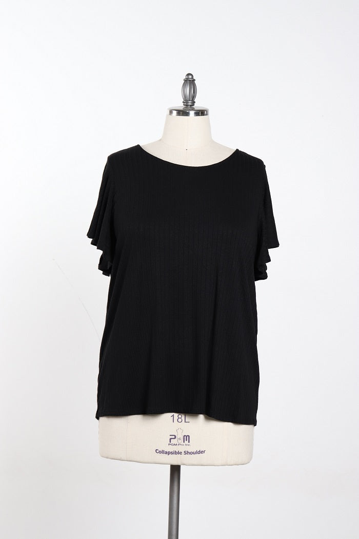 Women's Plus Size Black Basic Shirt