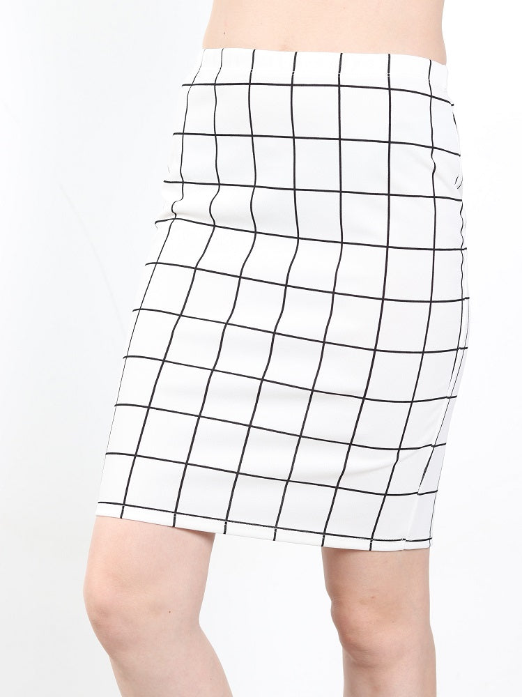 Women's Pencil Plaid skirt
