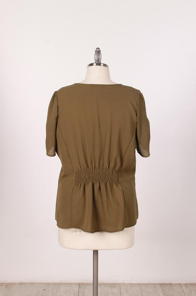 Woven Top With Button Front - Plus Size