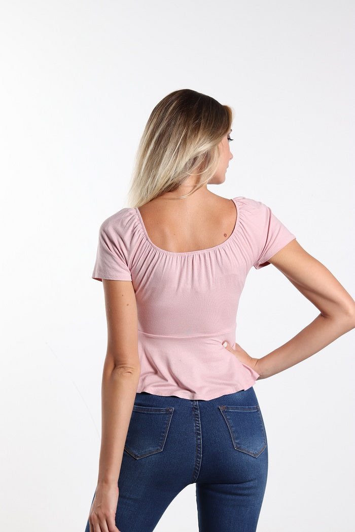 Super chic pink wrap top