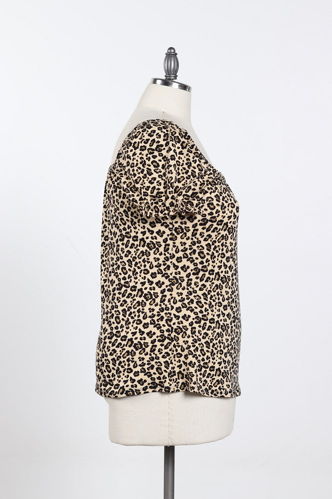 Women's Animal Print Shirt - Plus Size
