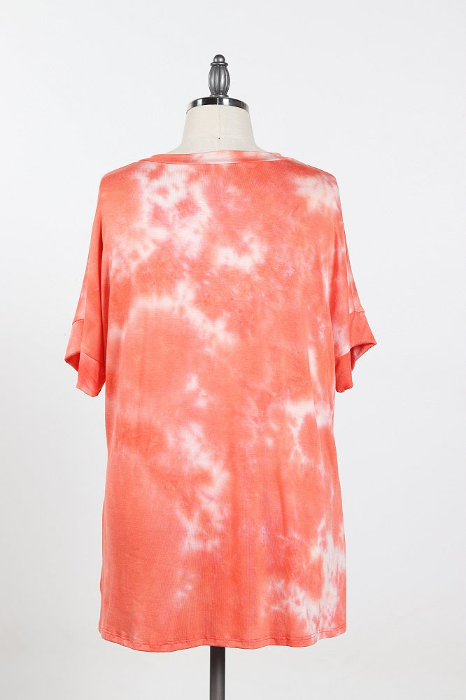 Women's Tie Dye Comfy Shirt -  Plus Size