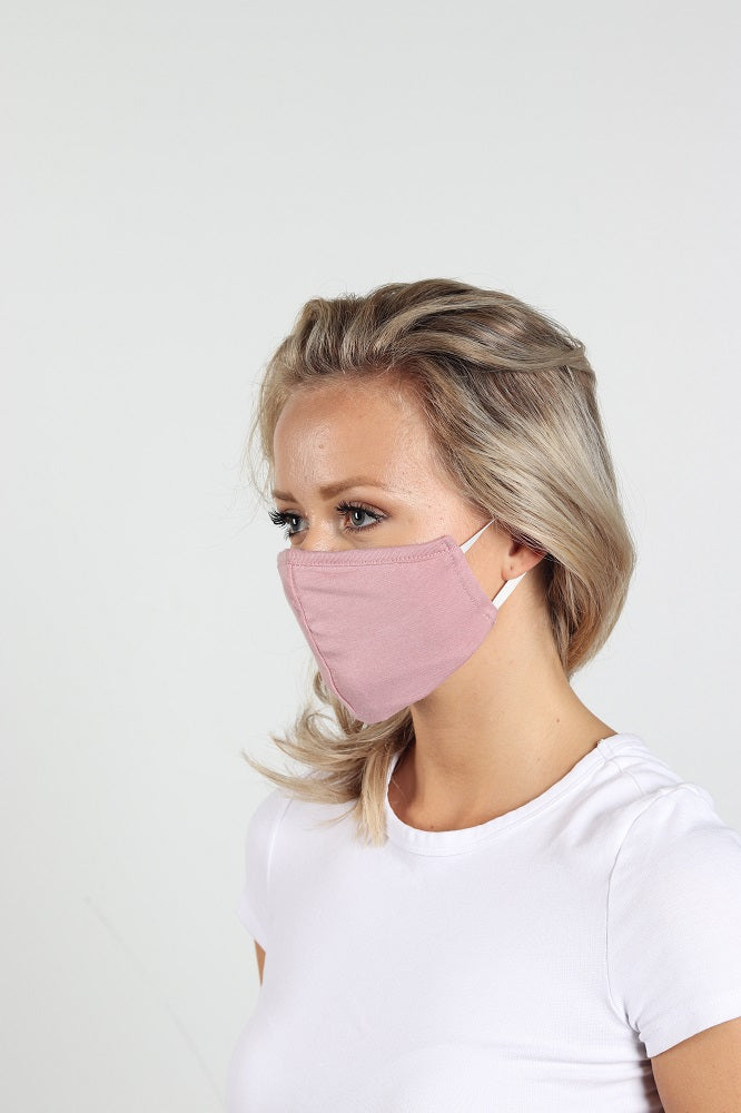 Women Baby Pink Single Mask