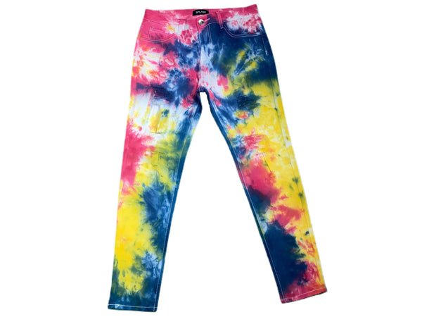 Men's Red/Navy Paint Splatter Jeans
