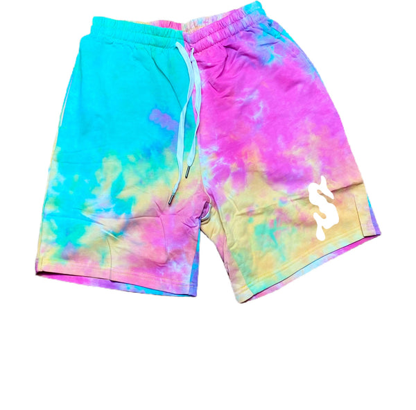 Splash Paint Splatter Shorts (Cotton Candy)