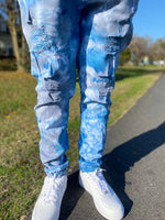 Tie Dye Paint Splatter Jeans (Royal Blue)