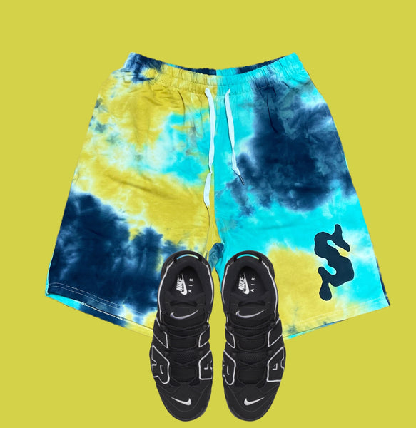Splash Paint Splatter Shorts (Lemon)