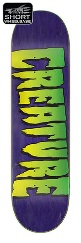 8.25 Creature - Purple Logo Deck