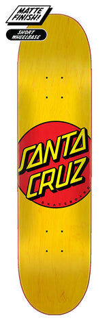 7.75 Santa Cruz - Yellow Classic Dot Deck